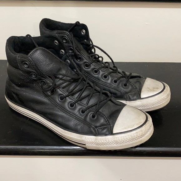 Converse leather high sneakers
